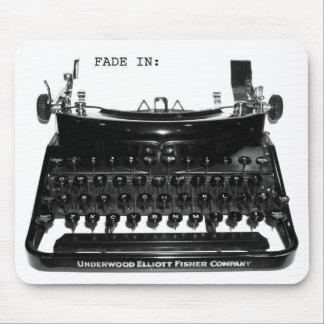 Máquina de escribir Mousepad del escritor de los g