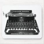 Máquina de escribir Mousepad del escritor - modifi Alfombrillas De Ratón