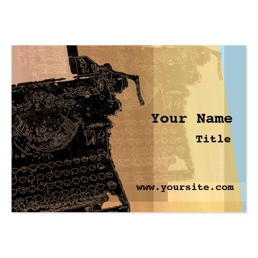 Máquina de escribir negra del vintage plantillas de tarjetas de visita