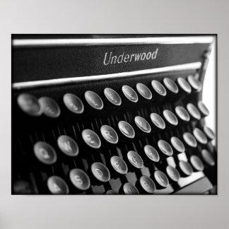 Máquina de escribir posters