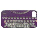 máquina de escribir pasada de moda iPhone 5 Case-Mate funda