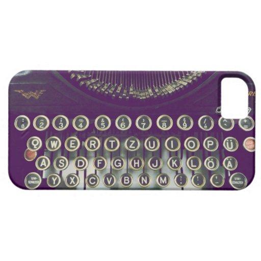 máquina de escribir pasada de moda funda para iPhone SE/5/5s
