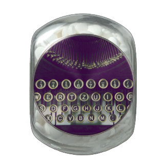 Máquina de escribir pasada de moda jarrones cristal