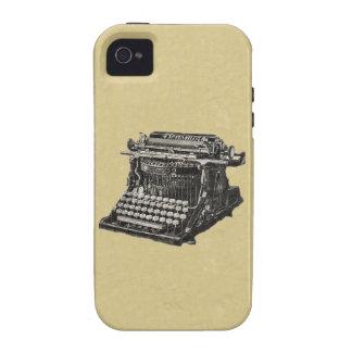 Máquina de escribir pasada de moda negra antigua d iPhone 4 carcasas