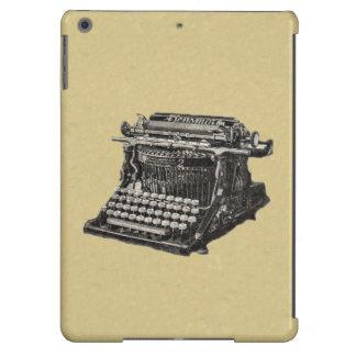 Máquina de escribir pasada de moda negra antigua d funda para iPad air