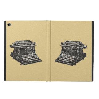 Máquina de escribir pasada de moda negra antigua