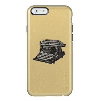 Máquina de escribir pasada de moda negra antigua funda para iPhone 6 plus incipio feather shine