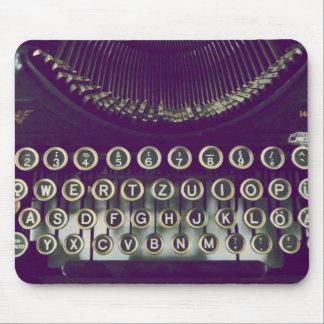 máquina de escribir pasada de moda alfombrilla de ratón