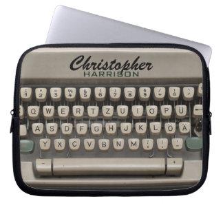 Máquina de escribir personalizada del vintage funda ordendadores