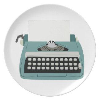 Máquina de escribir platos de comidas