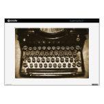 Máquina de escribir portátil calcomanías