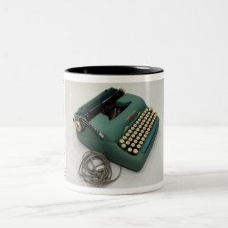 Máquina de escribir portátil eléctrica de la taza dos tonos