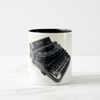 Máquina de escribir portátil silenciosa de taza dos tonos