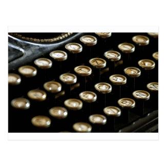 máquina de escribir postales