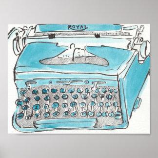 Máquina de escribir real póster