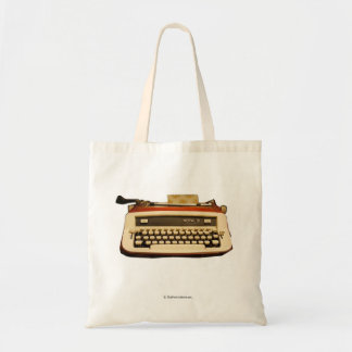 Máquina de escribir real roja bolsa tela barata