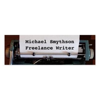Máquina de escribir retra del autor del escritor tarjetas de visita mini