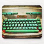 Máquina de escribir retra del vintage alfombrilla de ratón