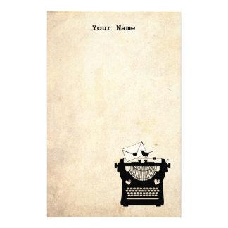 Máquina de escribir romántica del vintage papeleria