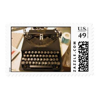 máquina de escribir sellos