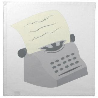 Máquina de escribir servilleta imprimida