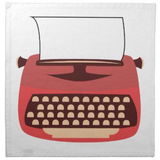Máquina de escribir servilletas