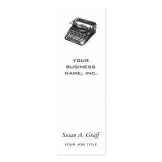 Máquina de escribir silenciosa de lujo tarjeta personal