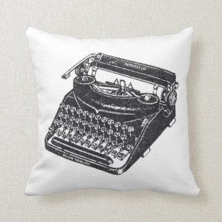 Máquina de escribir silenciosa del vintage de lujo almohada