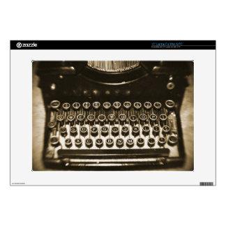 Máquina de escribir skins para 38,1cm portátiles