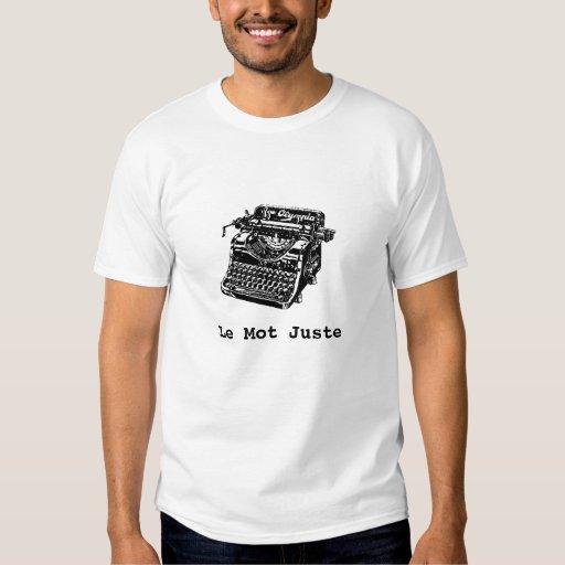Máquina de escribir, t básico de Le Mot Juste (la Playeras