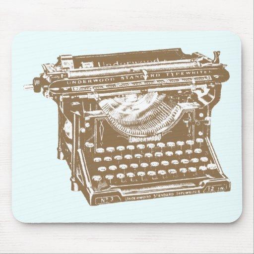 Máquina de escribir alfombrillas de ratón