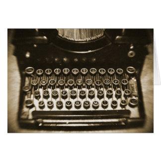 Máquina de escribir tarjeta de felicitación