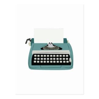 Máquina de escribir tarjetas postales