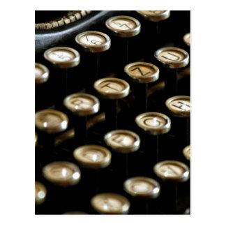 máquina de escribir tarjeta postal