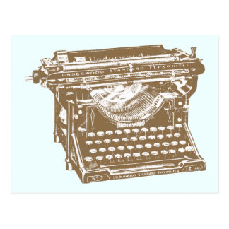 Máquina de escribir postal