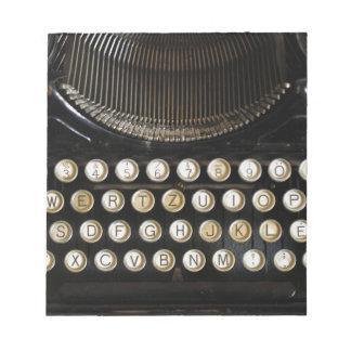 máquina de escribir vieja libretas para notas