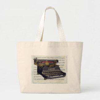 Máquina de escribir vieja bolsa de mano