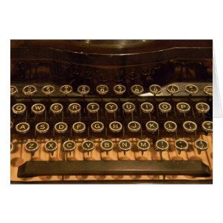 Máquina de escribir vieja para el cumpleaños tarjeta de felicitación