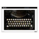 máquina de escribir vieja portátil skins