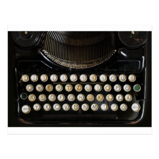máquina de escribir vieja postales