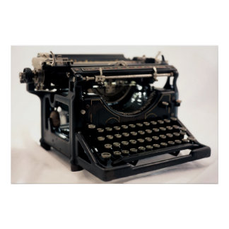 Máquina de escribir vieja póster