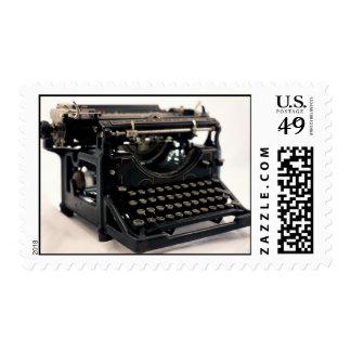 Máquina de escribir vieja sello postal