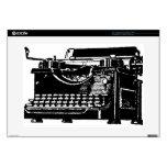 Máquina de escribir vieja calcomanía para 38,1cm portátil