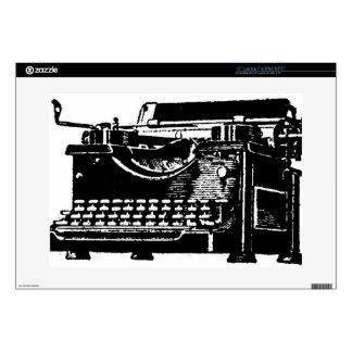 Máquina de escribir vieja skins para 38,1cm portátil