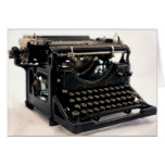 Máquina de escribir vieja tarjeta