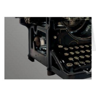 Máquina de escribir vieja tarjeta de felicitación