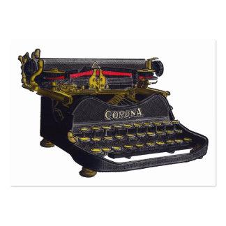 Máquina de escribir vieja tarjetas de visita grandes