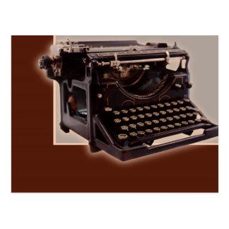 Máquina de escribir vieja tarjetas postales