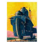 Máquina de guerra retra de Sci Fi 20s del kitsch Postal