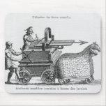 Máquina de guerra romana para las jabalinas que en mouse pads